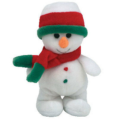 TY Jingle Beanie Baby - FLAKESY the Snowman (4.5 inch) - MWMTs Ornament