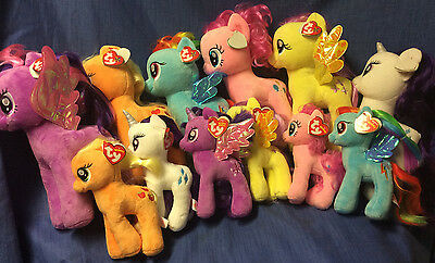 W-F-L TY My little Pony Selection 2 different Sizes Horse Cloth Animal Plush