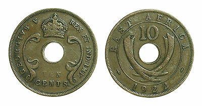 pcc1442_13) British Commonwealth -  East Africa Ten Cents 1922