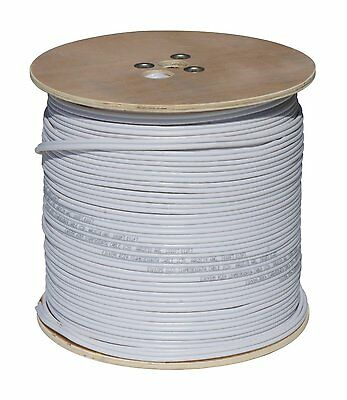 COP SECURITY RG59 Siamese Cable w/18/2 Power & 24/2 DATA, 1000ft., White Cable