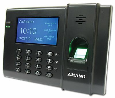 Amano FPT-80/A959 FPT80 Biometric Time Clock System NEW