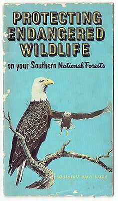 PROTECTING ENDANGERED WILDLIFE in Southern Nat Forests ~ 1969 USDA Booklet