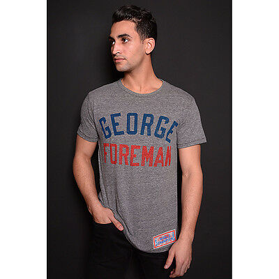 Roots of Fight George Foreman World Champion T-Shirt - Triblend Gray