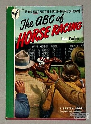 Orig. 1947 The ABC of Horse Racing book by Dan Parker
