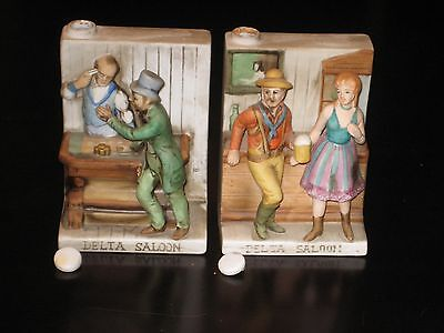 DELTA SALOON SUICIDE TABLE DECANTER SET OF 2 CYRUS NOBLE, Rare! VINTAGE