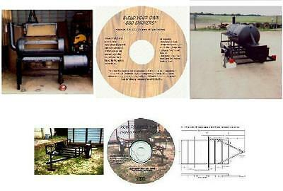 Combined BBQ Smoker, Recipes, and Trailer Plans CD