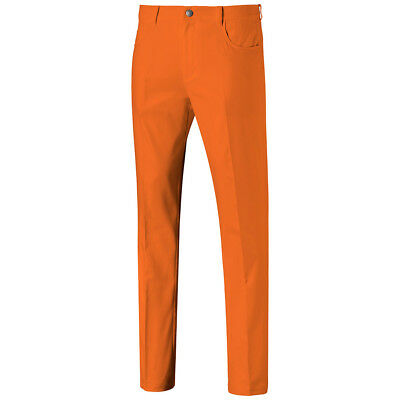 1778d8813ae2 New Puma Jackpot 5 Pocket Golf Pants Vibrant Orange Style  577975 Pick Size-