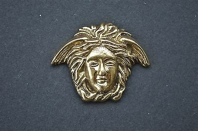Small Art Nouveau angels head solid brass furniture mount ormalu H4
