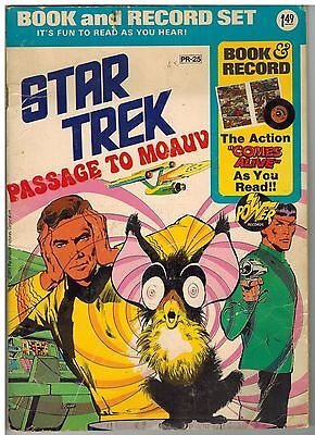 Star Trek Passage To Moauv Book And Record Set #pr-25 1975!