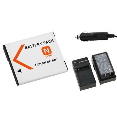 NP-BN1 Li-ion Battery & Car Home Charger for SONY Cyber-shot Camera NPBN1 N TYPE