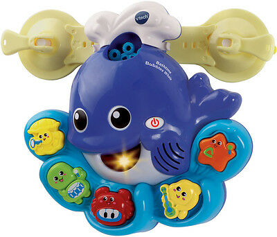 Vtech BATH TIME BUBBLES WHALE Baby/Toddler Gift Bathtime Bubbles Musical Toy BN