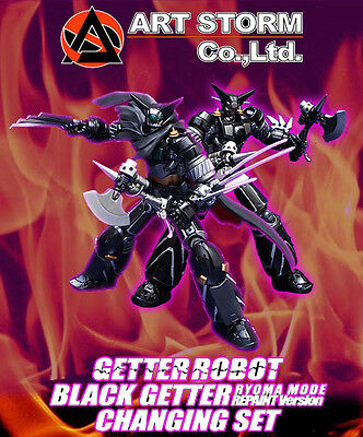 Fewture Ex Black Getter Ryoma Repaint Changing Set Robot Gokin