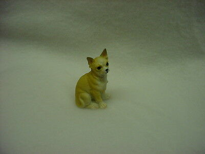 CHIHUAHUA tan puppy TiNY DOG Figurine HAND PAINTED MINIATURE Collectible Statue