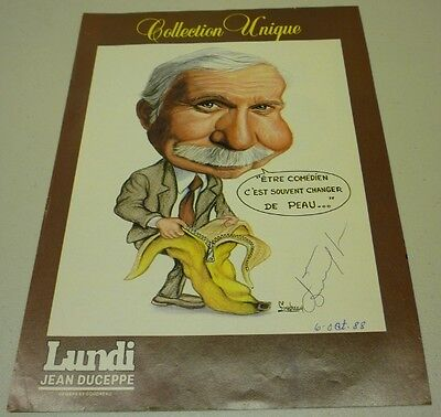 1988 Original Comedian Jean Duceppe Signed Printed Photo
