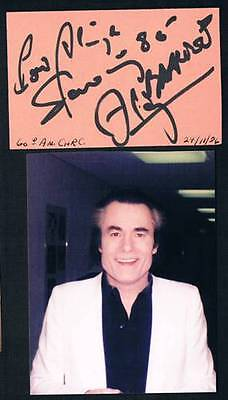1986 Original French Singer Alain Barriere Signed Cut Square
