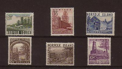 NORFOLK ISLANDS - Scott #s 13 - 18, MLH, F-VF - Cat. $55.10