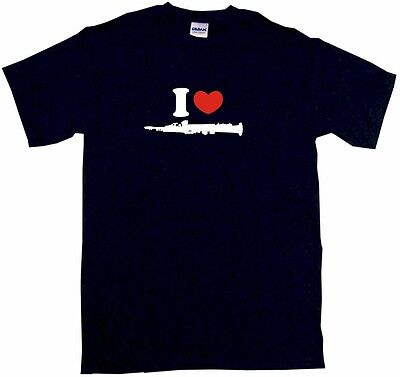 I Heart Love Clarinet Logo Kids Tee Shirt Boys Girls Unisex 2T-XL