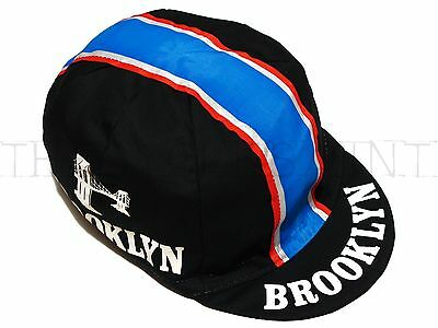 NEW Bella Capo Cycling/Bicycle Cap - Black Brooklyn Design - Made in Italy