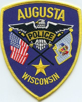 Augusta Wisconsin Wi Police Patch