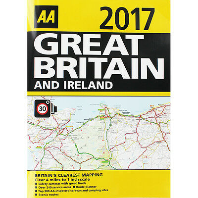AA 2017 Great Britain and Ireland Road Atlas (Paperback), Non Fiction Books, New