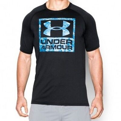 "Under Armour- T-Shirt. ""UA Tech Boxed Logo"". black. S-L. Kampfsport. Lifestyle."