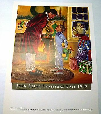 """John Deere Collector Print """"collector Toys 1990"""" New"""