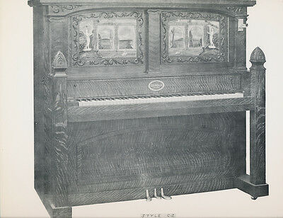 "COINOLA player Piano - style C-2 - TWO SCANS -  vintage glossy 9.5x12"" ad"