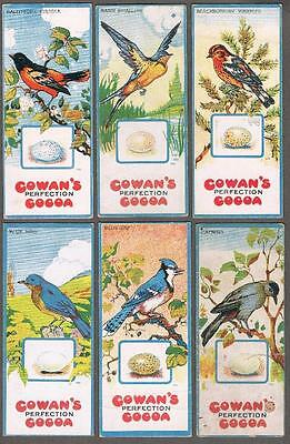 1920's Cowan V9 Canadian Birds Trading Cards Near Set of 19/24