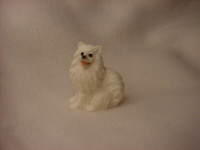 MIN AMERICAN ESKIMO puppy TiNY Dog HAND PAINTED MINIATURE FIGURINE Mini Statue