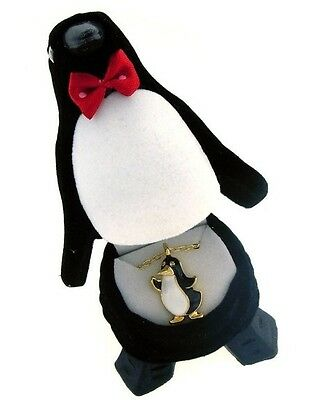 Penguin Crystal Necklace in Penguin Gift Box