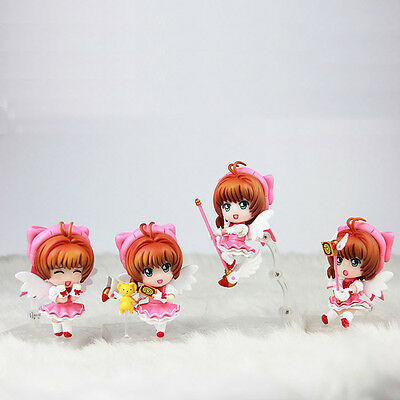 Japan Anime Card Captor Sakura Kinomoto Sakura Figure Cosplay Set of 4PCS NO Box