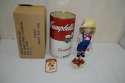Tomato Florintina Doll Campbell Kids w/COA by Patricia Loveless Soup Can  1100-4