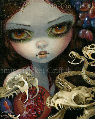 Ossuary Serpents Jasmine Becket-Griffith CANVAS PRINT snake skeleton lowbrow art