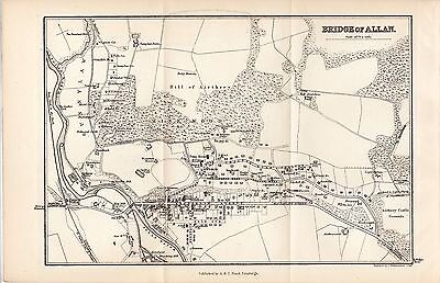 1878 Map of Bridge of Allan Scotland A & C Black