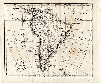 1808 Map of South America Guthrie