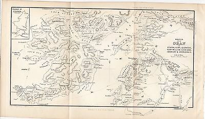1878 Map of Routes From Oban Scotland A & C Black J Bartholomew
