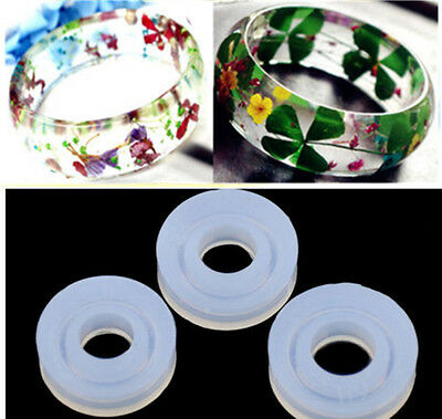 4Sizes Silicone DIY Finger Ring Mold Resin Craft Jewelry Making Rings Mould Tool