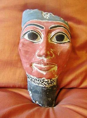 RARE Antique Egyptian Mask of Ancient Pharaoh  King AKHENATON Collection...LARGE