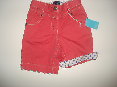 NWT Mini Boden Beach Cropped Red Pants 12-18 LR