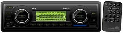 New PLMR87WB AM FM-MPX IN-Dash Marine MP3 Player/Weather Band/USB & SD  Black