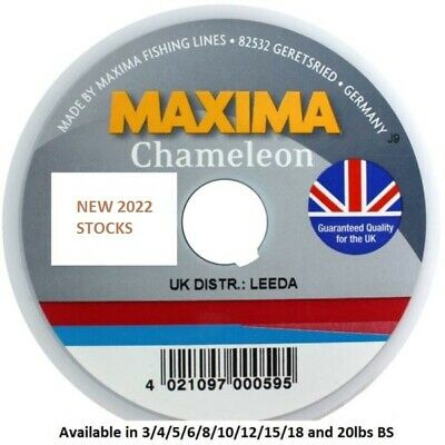 MAXIMA CHAMELEON 100M SPOOLS ** FREE POST ** 2017 Stocks **