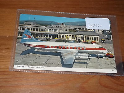 Old ISLE OF MAN  postcard our ref #47951 RONALDSWAY AIRPORT 1973