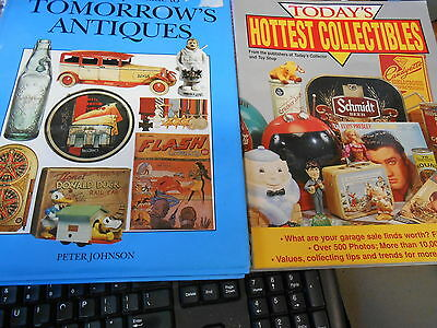 Set 2 Antiques Reference Books- HOTTEST COLLECTIBLE & TOMORROW'S ANTIQUES...SALE