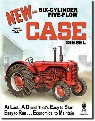 Case Tractors Metal Sign/Poster - New Case Diesel