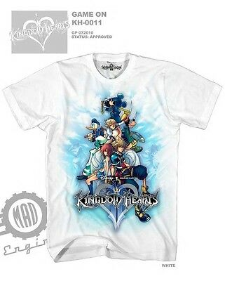 Kingdom Hearts Mickey Sora Game On Licensed T-Shirt (BLUE & WHITE)