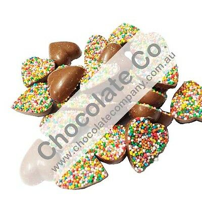 CHOCOLATE HEARTS - FRECKLES 250g 25 hearts CANDY BUFFET LOLLY BAR