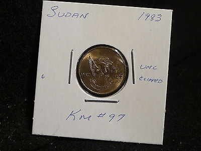 Africa:  1983    1 Ghirsh  Coin  Clipped   Gem   (Unc.)   (#3205)  Km # 97
