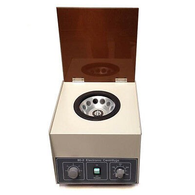 80-2 Electric Centrifuge Machine Lab Medical Practice 110V 4000 rpm 20ml x 12