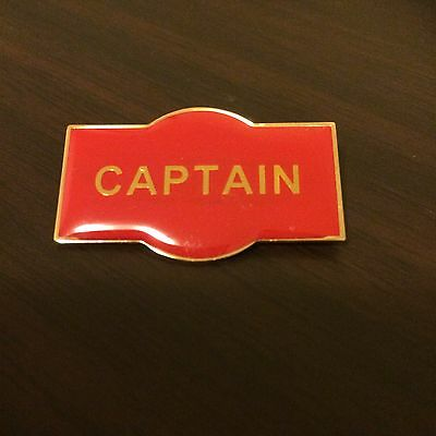 CAPTAIN Badge / Pin RED Enamel