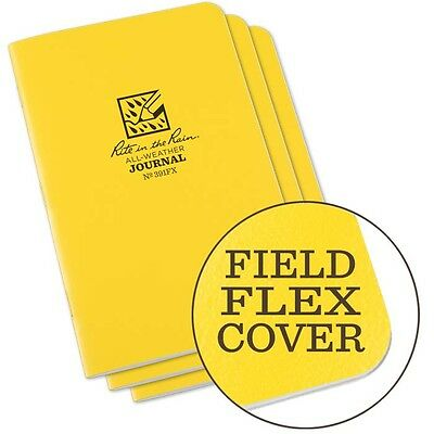 Rite in the Rain 391FX All-Weather Stapled Journal Notebook Yellow 3 pack